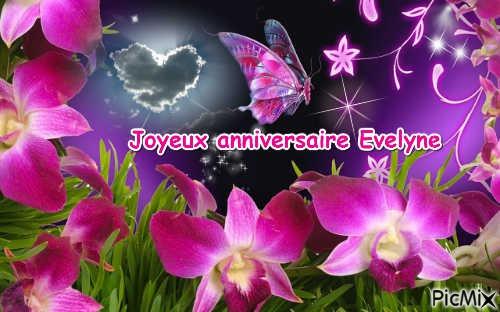 Joyeux Anniversaire Evelyne Gros Bisous Picmix