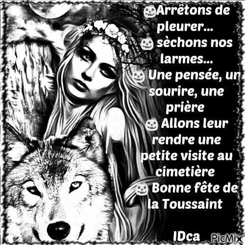 Bonne fête Toussaint loup