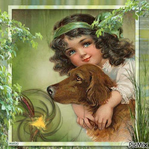 Lila et sont pti chien