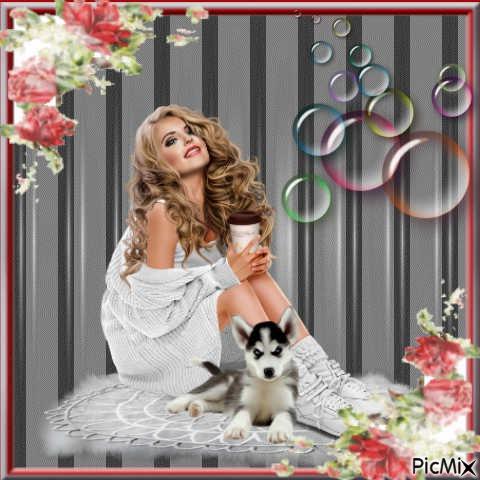 Femme&chiens