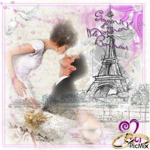Mensagem de Aniversário de Casamento Lua de Mel em Paris