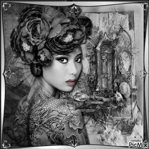 Portrait vintage - Noir et blanc