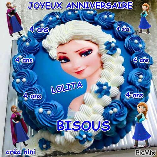 Joyeux Anniversaire Lolita 4 Ans Picmix