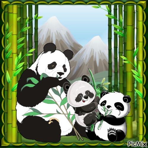 Mama Panda und ihr Baby