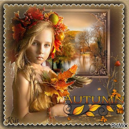 petit fille d'automne/no femme  🌺 🌻