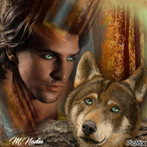 duo loup homme ,,