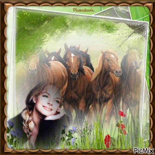 L'amour des chevaux.