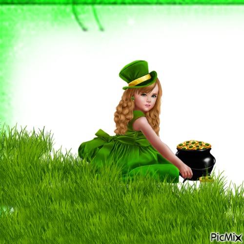Futur sorcière assise dans l'herbe
