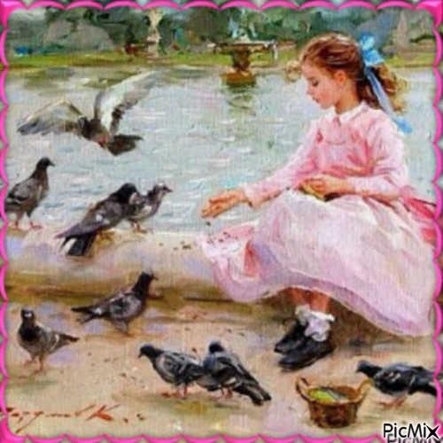 Les Pigeons et la Fillette