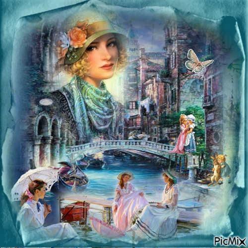 lady bleu vintage