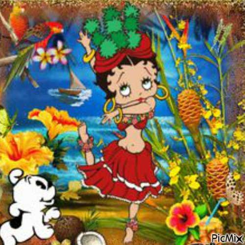 Bette Boop à Tahiti