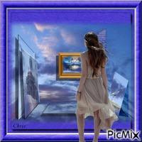 Rêveuse d'horizons bleus