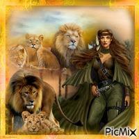 La gardienne des lions.
