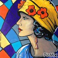 Art déco multicolore