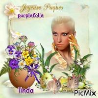 joyeuse paque a mon amie purplefolie