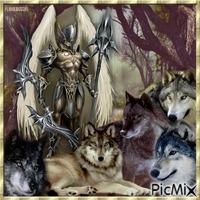 L'ange guerrier et ses loups.