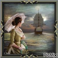 Léonore et le bateau qui s'éloigne