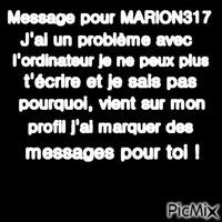 Message pour MARION317