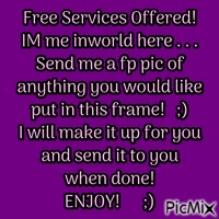 FREE SERVICES OFFERED