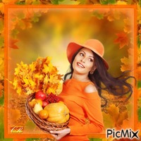 Lady in autumn