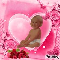 Heart frame baby