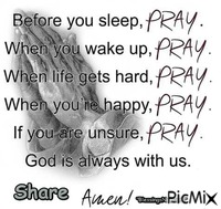 Pray at all times