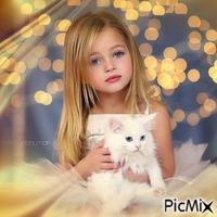 Portrait Petite Fille et son chat