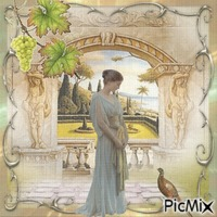Lady im Garten