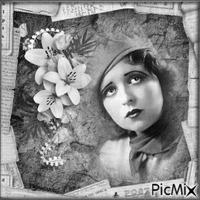 Portrait vintage en noir et blanc.