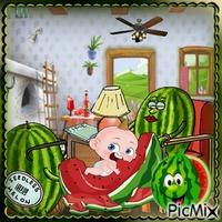 Das Wassermelonenbaby - Humor
