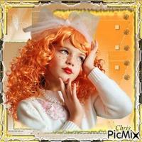 La petite fille aux cheveux orange