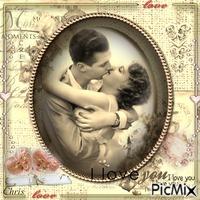 Love - Vintage sépia