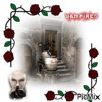 Vampires An Black Roses