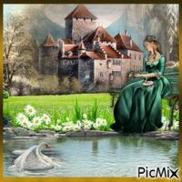 Château au bord de l'eau.
