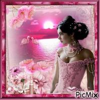 La dame en rose