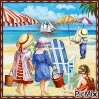 Sommerkinder am Strand