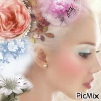 Femme fleurie