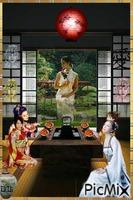 Dîner des lady Japonaises