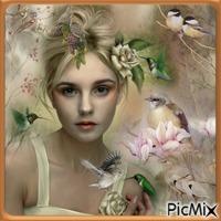 La femme aux oiseaux.