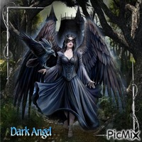 Gothic Dark Angel - With Raven