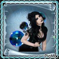 Bleu turquoise et noir
