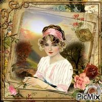 Portrait de femme - Vintage