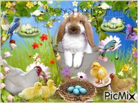 Joyeuses Pâques les animaux de la ferme