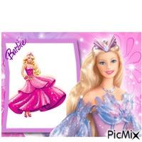 Barbie in pink dress