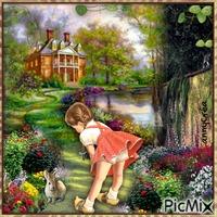 Carolina et le petit lapin