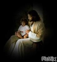 jesus com a menina ao colo