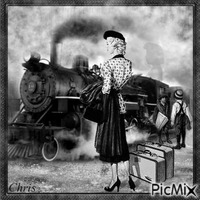Le train et ces voyageurs