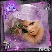 Portrait violet.