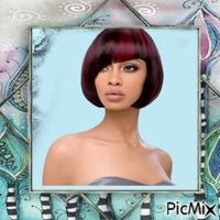 Porträt einer Frau mit kurzen Haaren