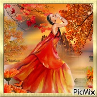 Femme en orange.